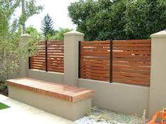 Imagini pentru brick wooden fence and electric gates