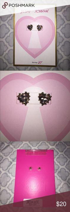 Betsey Johnson light pink Heart earrings 💗sale Nwt beautiful light pink heart earrings retail $25 + tax Betsey Johnson Jewelry Earrings