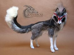 Japanese Kitsune Room Guardian by AnyaBoz on deviantART Really wanna find out how she does her fur. looks so awesome!