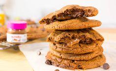 Nutella Stuffed Choc Cake Batter Cookies
