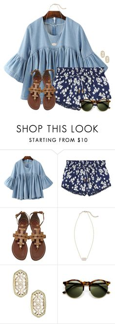 """~flowy~"" by flroasburn ❤ liked on Polyvore featuring Paloma Blue, Tory Burch and Kendra Scott"
