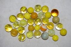 Old Vintage GLASS MARBLES Lot Yellow Free by NostalgicSalvage, $12.00