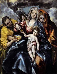 Эль Греко. Святое семейство.