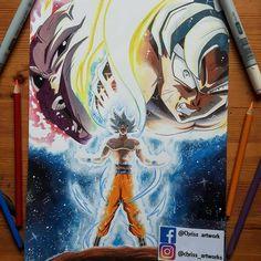 "1,914 Me gusta, 6 comentarios - Dragon Ball Z Army (@dragonballzarmy) en Instagram: ""Stunning!! Goku Vs. Jiren!! By @chriss_artworks Do I Buy This! Vote On My Story!! Follow Me For…"""