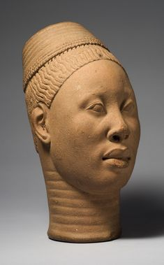 "Head called ""Lajuwa."" Ife Palace, Ife. 12th-15th century C.E. Terra-cotta.,Fundación Marcelino Botín/Museum for African Art.  © National Com..."