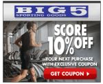 Big 5 Sporting Goods Coupon for 10% off Your Next Purchase!