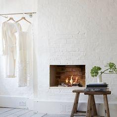 White Wall Fireplace