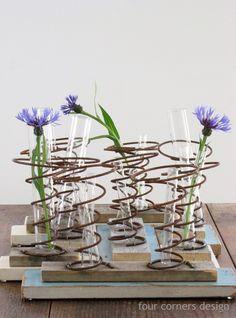 more bed spring vases...four corners design