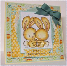 Your Next Stamp card by Jackie featuring Two Cute Rabbits