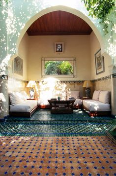 Beautiful dappled sunshine looks refreshing Riad Noga, Marrakech