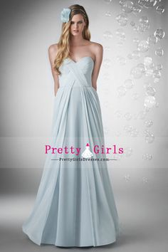 2015 Chiffon A Line Bridesmaid Dress Sweetheart Ruched Bodice Floor Length USD 123.99 PGDP6CC7SPD - PrettyGirlsDresses.com