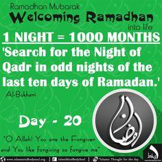 #welcoming #Ramadan #lailatulqadr #lailatulqadr #night #decree #blessing #qadr #imbs #Islamic #allah #day20 #bukhari #hadeeth #life Dua For Ramadan, Ramadan Mubarak, Ramzan Dua, Allah, 1st Night, Forgiveness, Quote Of The Day, Islamic, Thoughts