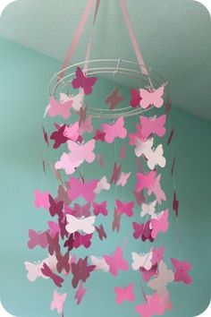 Really love this idea for simple decorations!  butterfly mobile! Make it look just like pottery barns (scheduled via http://www.tailwindapp.com?utm_source=pinterest&utm_medium=twpin&utm_content=post1271883&utm_campaign=scheduler_attribution)