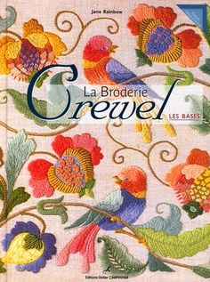 Don't be cruel! (Sorry, couldn't resist the terrible pun.) Beautiful crewel stitchery! If you haven't tried crewel, you are in for a real treat. Fun and interesting stitches provide hours of entertainment.