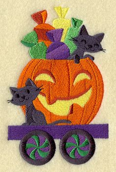 Trick-or-Treat Train - Cats in Pumpkin