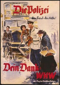 1938 Berlin-Propaganda Plakat fuer die Polizei