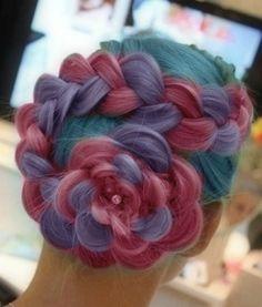 blue, pink, purple