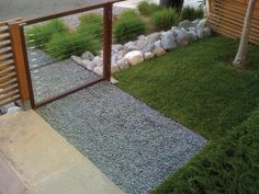 modern front yard see through fence - Google Search