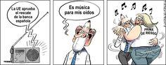 @MarianoRajoy celebrando el rescate a la banca con la #primaderiesgo #humor #nosrobanlacatera