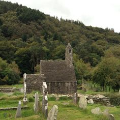 St Kevin's Church, Glendalough, County Wicklow, Ireland.  Built in the 12th Century.