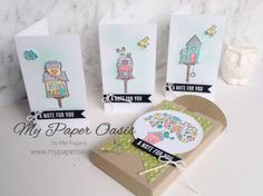 Stampin' Up! Flying Home Narrow Notecards by Mel Pagano at My Paper Oasis Happy Easter Everyone, Craft Club, Paper Pumpkin, Stamping Up, Paper Crafts, Card Crafts, Cute Cards, Stampin Up Cards, Making Ideas