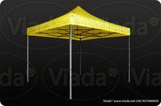 Carpa plegable color amarillo 3x3 Viada® Optima #carpa #carpaplegable #carpaplegablebarata http://viada.net/tienda/