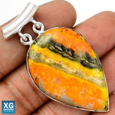 Indonesian-Bumble-Bee-925-Sterling-Silver-Pendant-Jewelry-SP73255