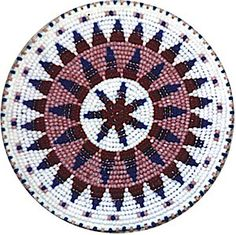 native american rosettes   Beaded Rosettes