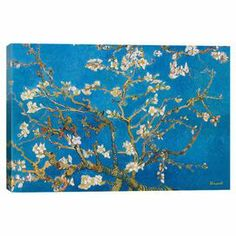 Print of Van Gogh's Almond Blossom on canvas.  Product: Canvas printConstruction Material: Cotton canvas and woodFeatures: Original art by Vincent Van Gogh