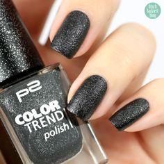 p2 color trend 080 black sand, frischlackiert