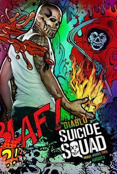 Suicide Squad posters : Jay Hernandez est Diablo