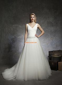 Frühling 2014 V-Ausschnitt Chic & Modern Brautkleider 2014
