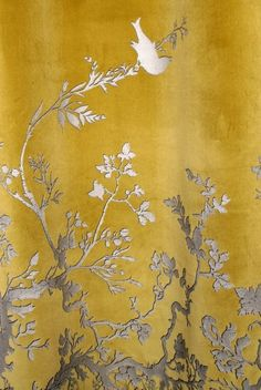 Timorous Beasties Fabric - Birdbranch Velvet Panel. This would be amazing as a backdrop on a wall. Love.