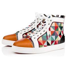 8fec96aa0ed8 CHRISTIAN LOUBOUTIN Louis Orlato Men S Flat Version Multi Leather.   christianlouboutin  shoes   Mens. Mens High Top ...