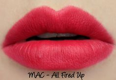 MAC The Matte Lip 2015 - All Fired Up Lipstick Swatches & Review