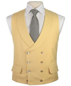mens yellow waistcoat - camel-d. Morning Coat, Morning Suits, Morning Dress, Double Breasted Waistcoat, Men's Waistcoat, Mens Tailored Suits, Mens Suits, Formal Smart Casual, British Clothing Brands