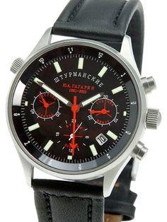 Sturmanskie Poljot Navigator Chronograph Gagarin Watch 31681/1743458-42: Watches: Amazon.com