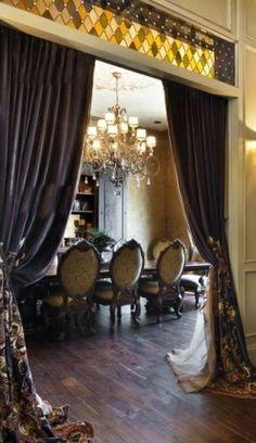 Decorative Drapery-piano room