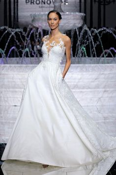 Atelier Pronovias Spring 2018: Feminine, Water-Inspired Wedding Dresses   TheKnot.com