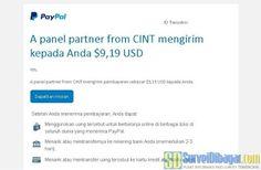 Notifikasi dari PayPal ketika uang sudah dikirimkan oleh Future Talkers | SurveiDibayar.com