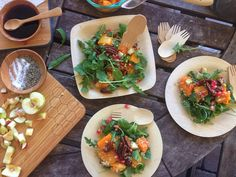 Warm Butternut Squash and Arugula Salad....perfect fall dish for the holidays!