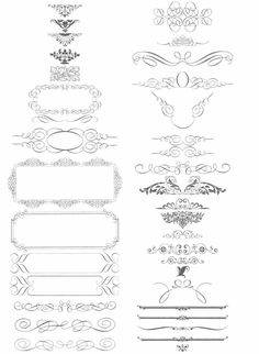 calligraphic style ornaments