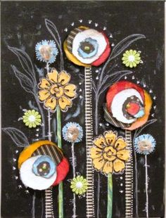 Create mixed-media flowers [On the Blog] with guest artist Renee Stien.
