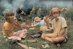 Those where the days: Pipi, Tommy and Annicka getting high. They don't make kids tv like that anymore...