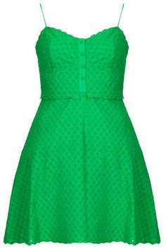 TOPSHOP - Pretty Broiderie Sundress - Dresses - Clothing