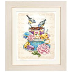 Tea Time - Cross Stitch, Needlepoint, Embroidery Kits – Tools and Supplies