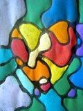Artsonia Art Exhibit :: Stained Glass Hearts