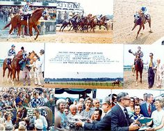 The June 9, 1973 Belmont Stakes heralded in the coronation of Secretariat as the first Triple Crown winner in 25 years. To this day, Secretariat's record race time of 2:24 flat still stands. His performance and win by 31 lengths was simply awe inspiring...