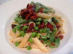 En verden af smag!: Cremet Pasta med Asparges, Ærter og Parmaskinke - ...