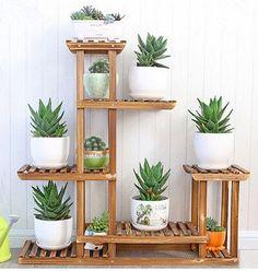 flowerpot rack carbonized wood flower plant indoor floor living room balcony frame multi-layer flowerpot rack